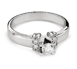 """Помолвочное кольцо с Бриллиантами """"Грациозность 127"""""""