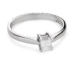 """Помолвочное кольцо с Aлмазом """"Прочность 107"""""""