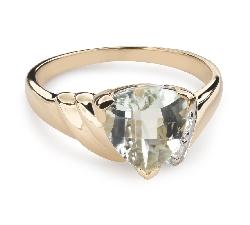 """Золотое кольцо с драгоценными камнями """"Краски 82"""""""