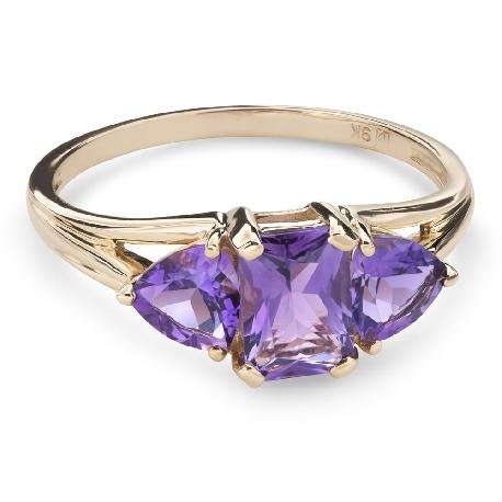 """Zelta gredzens ar dārgakmeņiem """"Krāsas 83"""""""