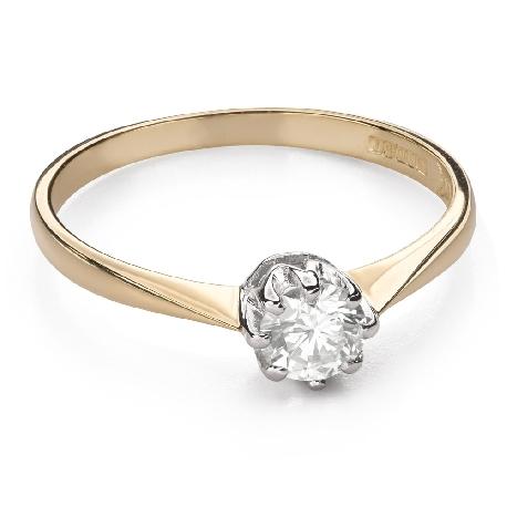 """Помолвочное кольцо с Бриллиантом """"Единственная 118"""""""