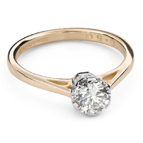 """Помолвочное кольцо с Бриллиантом """"Единственная 119"""""""