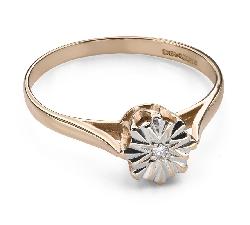"""Saderināšanās gredzens ar Dimantu """"Mīļais 133"""""""