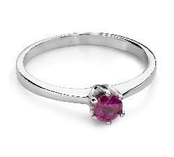 """Помолвочное кольцо с драгоценными камнями """"Краски 84"""""""
