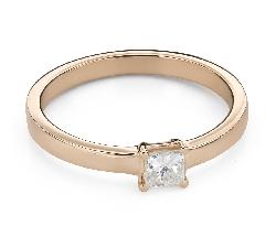 """Помолвочное кольцо с алмазами """"Принцесса 96"""""""