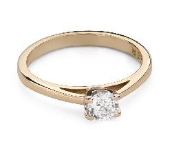 """Помолвочное кольцо с Бриллиантом """"Прочность 108"""""""