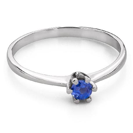 """Помолвочное кольцо с драгоценными камнями """"Краски 85"""""""
