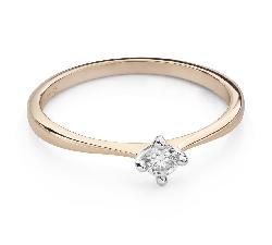 """Помолвочное кольцо с Бриллиантом """"Прочность 109"""""""