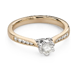 """Помолвочное кольцо с Бриллиантами """"Грациозность 130"""""""