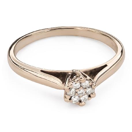 """Помолвочное кольцо с Бриллиантами """"Возлюбленный 134"""""""