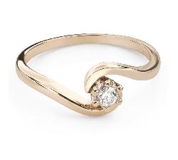"""Saderināšanās gredzens ar Briljantu """"Mīlestības apskāvienos 53"""""""