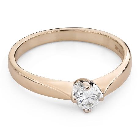 """Помолвочное кольцо с Бриллиантом """"Единственная 122"""""""