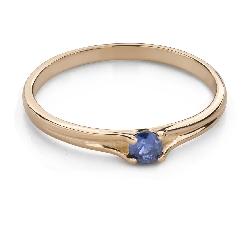 """Zelta gredzens ar dārgakmeņiem """"Krāsas 87"""""""