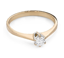 """Помолвочное кольцо с Бриллиантом """"Единственная 123"""""""