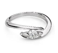 """Помолвочное кольцо с Бриллиантом """"В объятиях любви 54"""""""