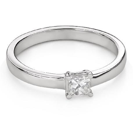 """Помолвочное кольцо с алмазами """"Принцесса 97"""""""