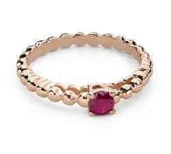 """Zelta gredzens ar dārgakmeņiem """"Krāsas 89"""""""