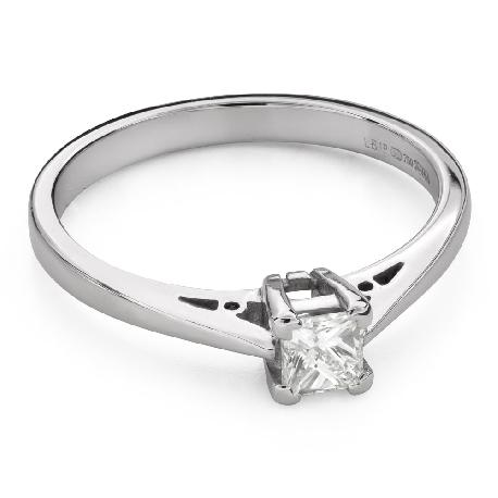 """Помолвочное кольцо с алмазами """"Принцесса 98"""""""