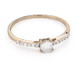 """Помолвочное кольцо с Бриллиантами """"Грациозность 132"""""""