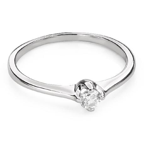 """Помолвочное кольцо с Бриллиантом """"Единственная 124"""""""