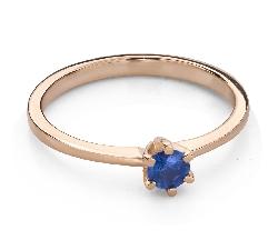 """Zelta gredzens ar dārgakmeņiem """"Krāsas 90"""""""
