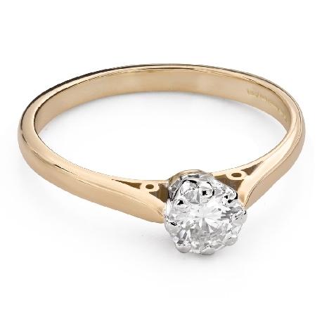 """Помолвочное кольцо с Бриллиантом """"Единственная 125"""""""