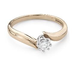 "Помолвочное кольцо с Бриллиантами ""Вихрь 38"""