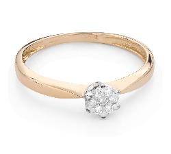 """Помолвочное кольцо с Бриллиантом """"Возлюбленный 137"""""""