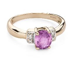 """Золотое кольцо с драгоценными камнями """"Краски 92"""""""