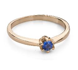 """Zelta gredzens ar dārgakmeņiem """"Krāsas 93"""""""