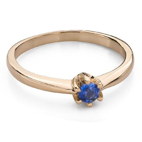 """Золотое кольцо с драгоценными камнями """"Краски 93"""""""