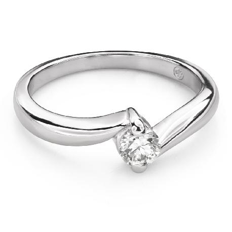 """Помолвочное кольцо с Бриллиантом """"В объятиях любви 56"""""""
