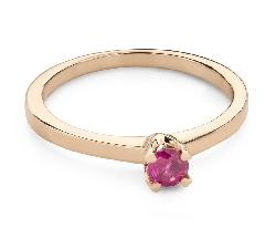 """Zelta gredzens ar dārgakmeņiem """"Krāsas 91"""""""