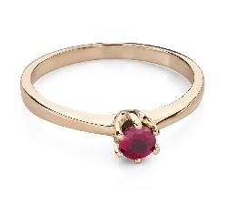"""Золотое кольцо с драгоценными камнями """"Краски 94"""""""