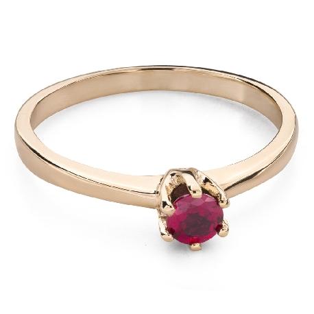 """Zelta gredzens ar dārgakmeņiem """"Krāsas 94"""""""