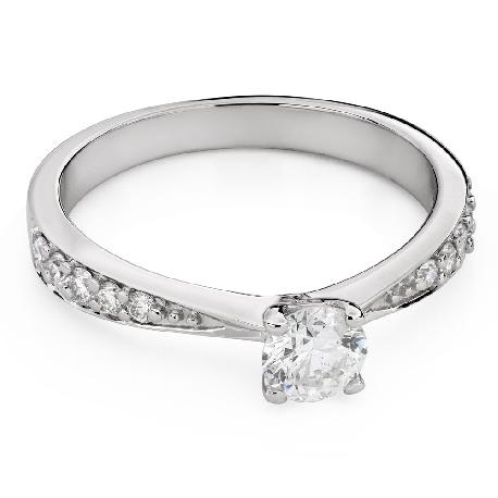 """Помолвочное кольцо с Бриллиантами """"Грациозность 134"""""""