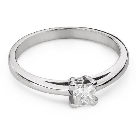 """Помолвочное кольцо с алмазами """"Принцесса 100"""""""