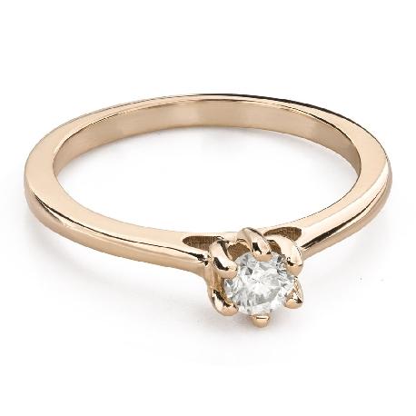 """Помолвочное кольцо с Бриллиантом """"Королева сердца 27"""""""