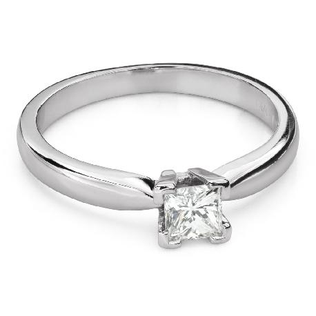 """Помолвочное кольцо с алмазами """"Принцесса 102"""""""