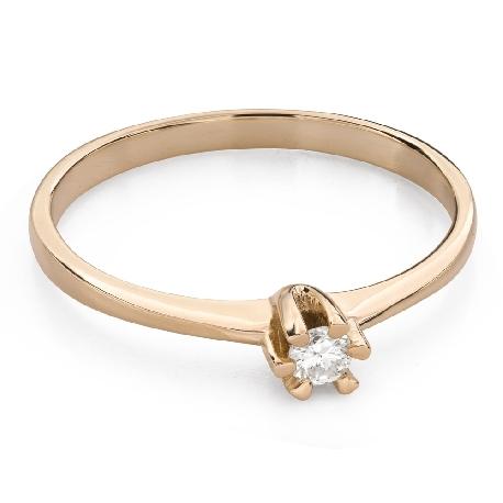 """Помолвочное кольцо с Бриллиантом """"Чистая 42"""""""
