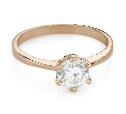 """Помолвочное кольцо с Бриллиантом """"Богиня 151"""""""