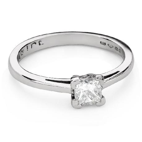 """Помолвочное кольцо с алмазами """"Принцесса 103"""""""