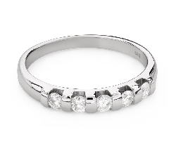 """Помолвочное кольцо с Бриллиантами """"Алмазная полоска 54"""""""