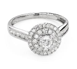 """Помолвочное кольцо с алмазами """"Бриллиантовый букет 53"""""""