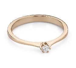 """Помолвочное кольцо с Бриллиантом """"Чистая 47"""""""