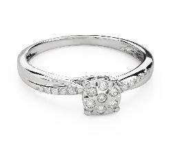 """Saderināšanās gredzens ar Dimantiem """"Mīļais 140"""""""