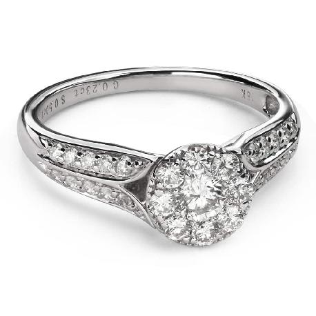 """Помолвочное кольцо с Бриллиантами """"Бриллиантовый букет 54"""""""