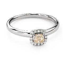 """Помолвочное кольцо с алмазами """"Бриллиантовый букет 55"""""""