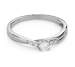 """Помолвочное кольцо с Бриллиантами """"Грациозность 140"""""""
