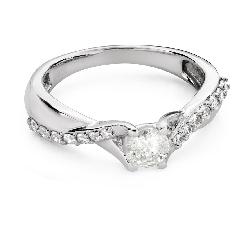 """Помолвочное кольцо с Бриллиантами """"Грациозность 141"""""""